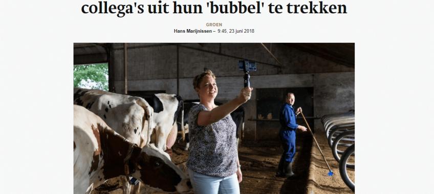 Deze bloggende boerin probeert collegas uit hun bubbel te trekken